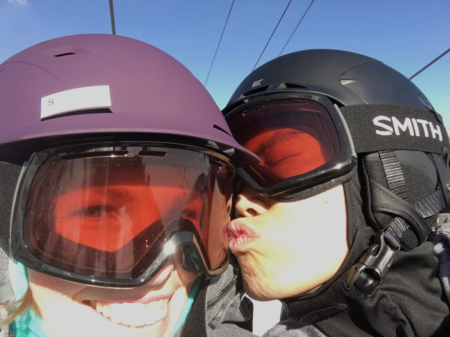 Skiing for our 9th anniversary